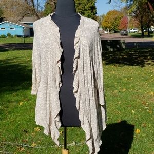 Maurice's plus open front ruffle sweater cardigan
